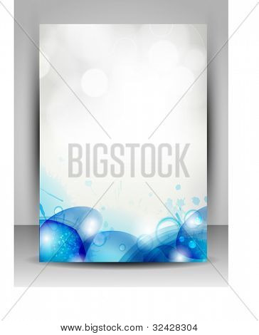 Abstract background water splash, green leaves with space for your text. can be use as flyer, banner or poster. vector illustration in EPS 10. Save water and trees concept