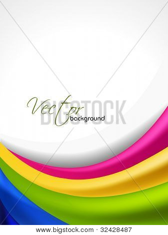 Abstract colorful wave background for flyer or poster and copy space. EPS 10, vector illustration.