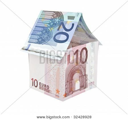 Ten And Twenty Euro Note House Construction