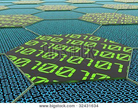 Binärcode. Eine abstrakte Abbildung.