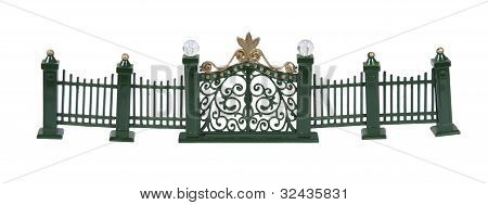 Metal Fence And Gate
