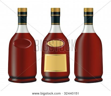 Bottles Of Cognac (brandy)