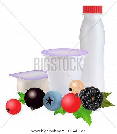 Yoghurt And Berries