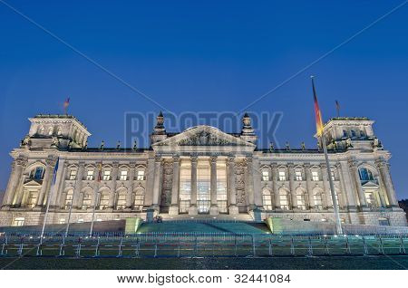 The Bundestag At Berlin, Germany