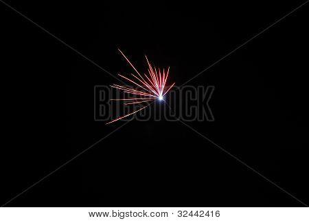 single red fireworks