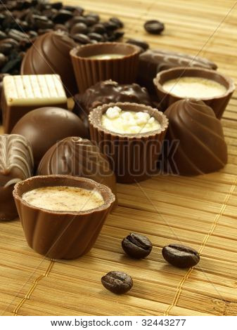 Chocolates With Coffee, Closeup