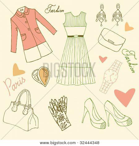 Street Style, Paris Fashion doodles