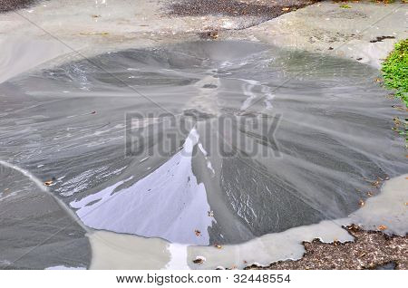 Liquefaction Bubbles To The Surface Following An Earthquake