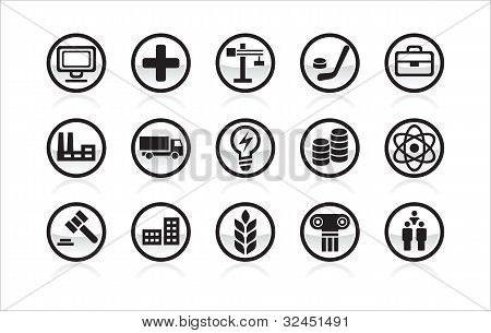 Vector icon different themes