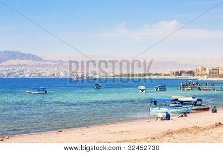 Urban Beach In Aqaba City, Jordan
