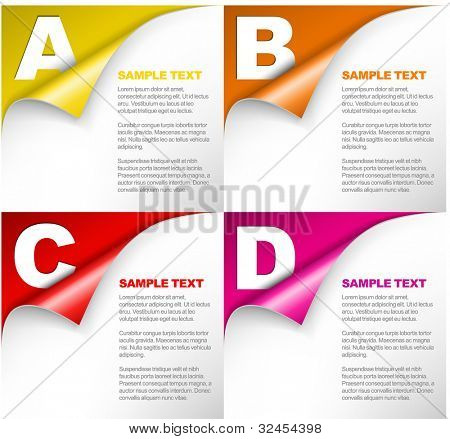 Vector Paper Progress background / product choice or versions with letters