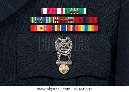 Military Decorations On Dress Uniform