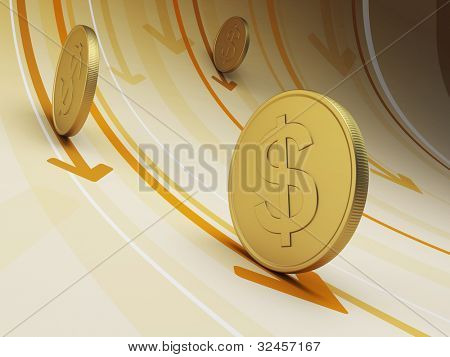 cash flow, business concept, 3d render