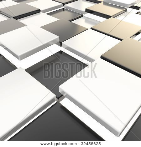 Abstract background made of plates