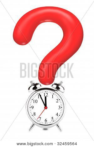 Question Mark With Alarm Clock