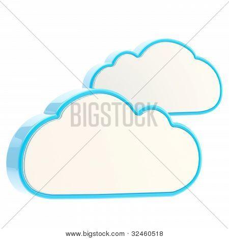 Icono de tecnología informática en la nube
