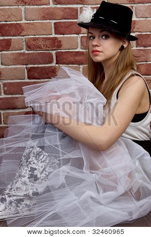 Fashionable young woman posing