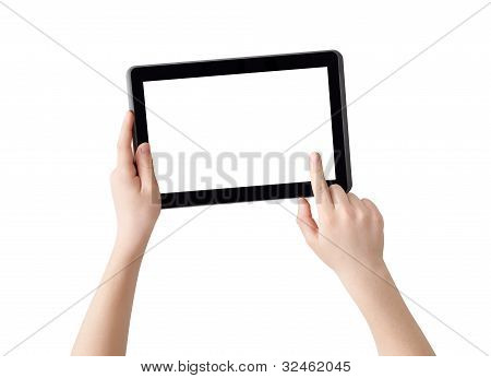 Hands with Tablet