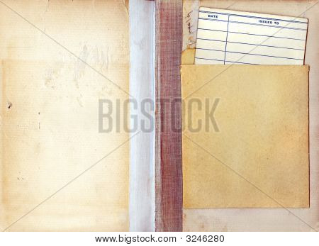 Vintage Library Book Due Date Card