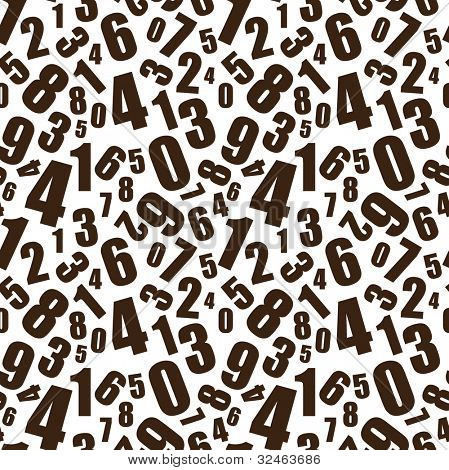 Simple black and white numbers seamless background pattern