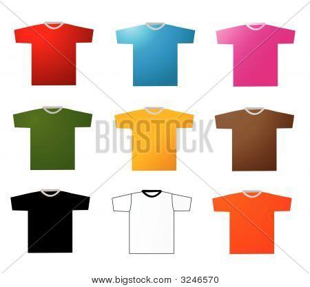 Set Of Tee Shirts Vector