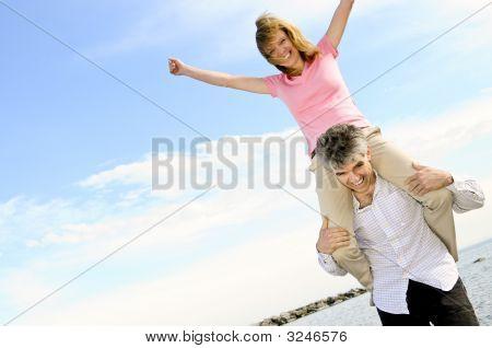 Reife romantic couple
