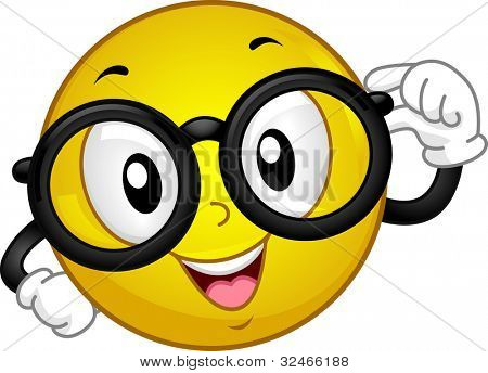 Illustration of a Smiley Wearing Glasses