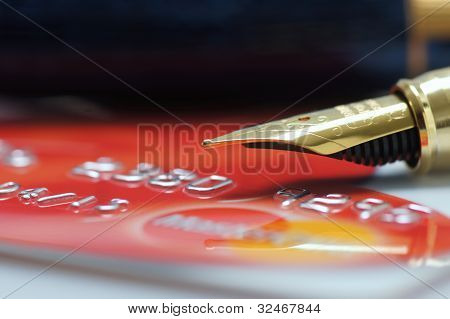 Fountain Pen And Credit Card
