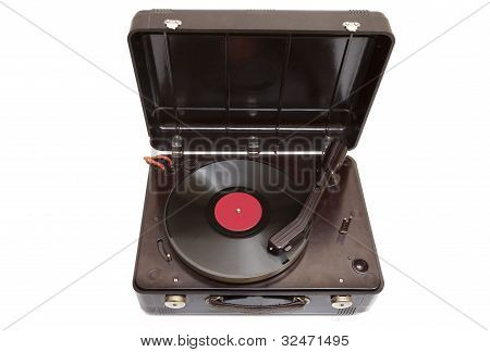 Retro Portable Turntable
