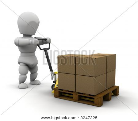 Person With Pallet Truck