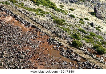 Stone Stairs In Pico Do Arieiro