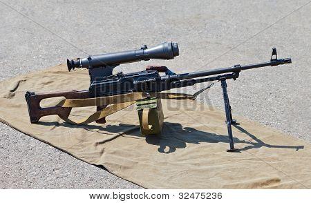Machine Gun Kalashnikov With Scope