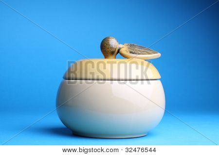 Cup Sugar-bowl In The Form Of An Apple