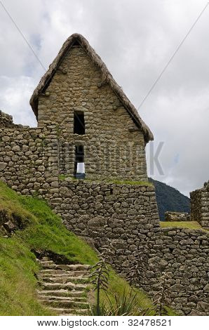 Two-story Inca Building At Machu Picchu