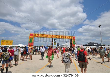 New Orleans Jazz Fest Entrance