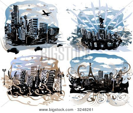 City Background Illustrations