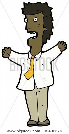 cartoon shouting businessman