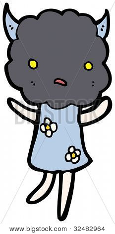 cute thunderhead cloud cartoon character