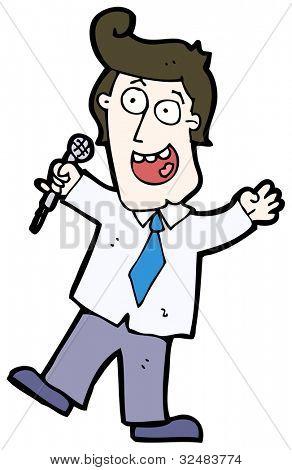 game show host cartoon