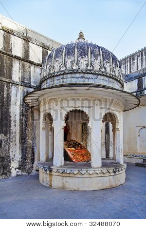 Domed Corner Of Worship Kumbhalghar Fort