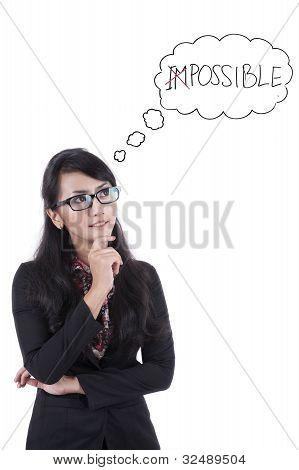 Toughtful Asian Businesswoman