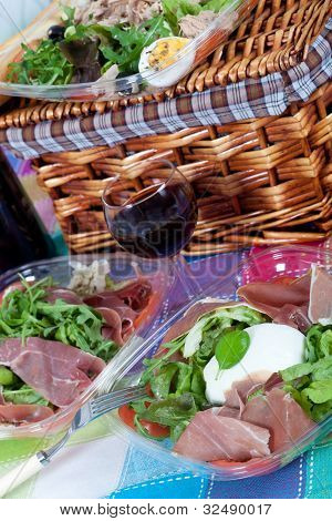 Pic-nic Basket And Salads