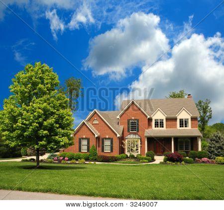 Brick Suburban 2-Story Home
