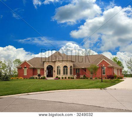 Brick Suburban Ranch Home