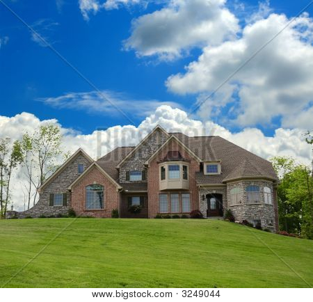 Brick And Stone Suburban Home