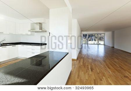 beautiful new apartment, interior, detail kitchen