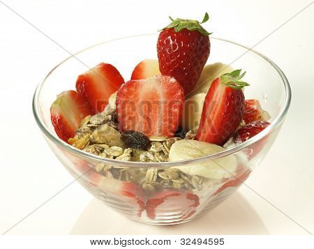 Strawberry Dessert, Isolated