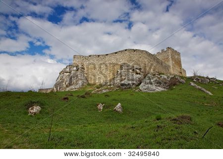 Walls Of Spis? Castle In Slovakia