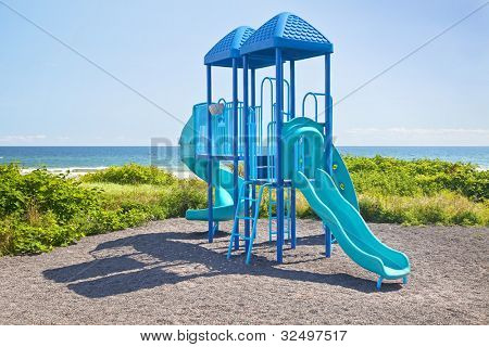 Jungle Gym Playground by the ocean.