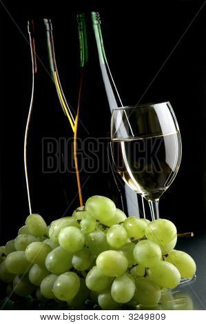 Still Life With Grape And Wines